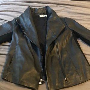 Vince leather coat NWOT